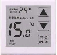 What are the electronic components of the wall-hung boiler thermostat?