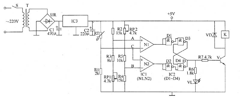 Thermostat control circuit