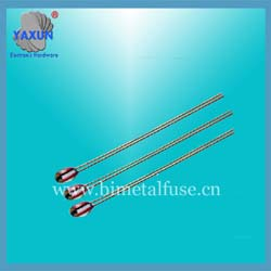 Single-ended glass sealed thermistor